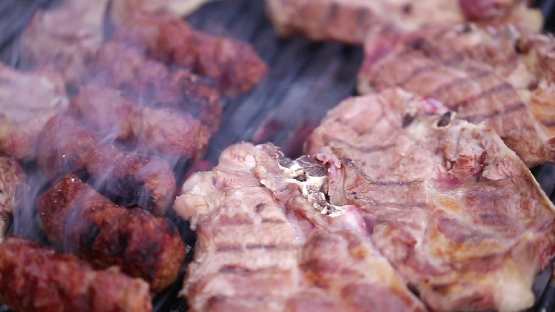 Barbeque with meat