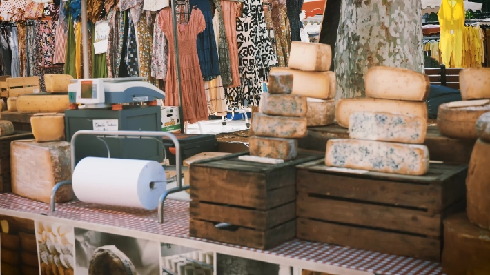 Cheese For Sale Cassis Weekly Market.