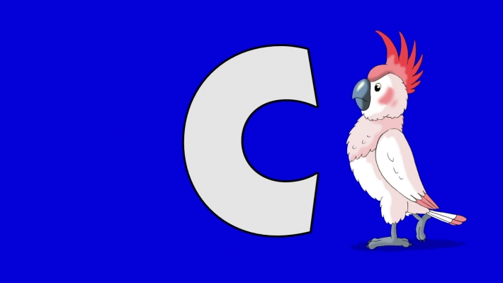 Letter C and Cockatoo (background)