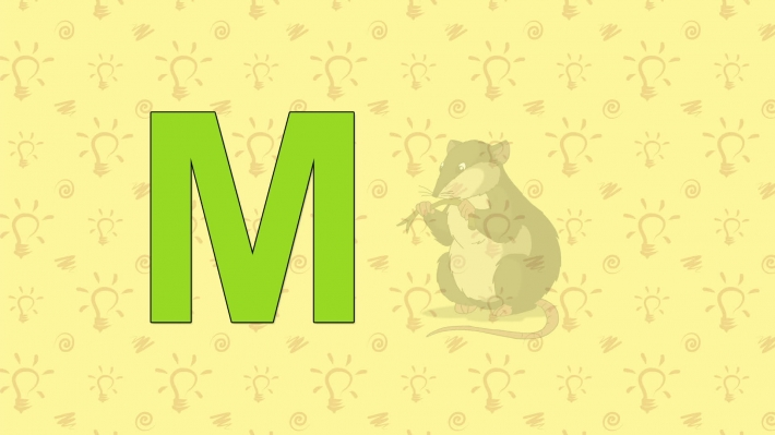 Mouse. English ZOO Alphabet - letter M