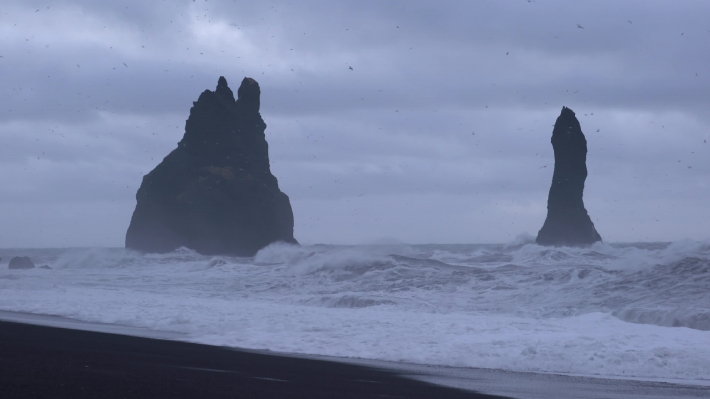 Reynisfjara close to Vik, Iceland, Europe