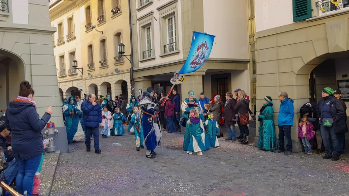 Street procession at the Thuner Fasnacht carnival