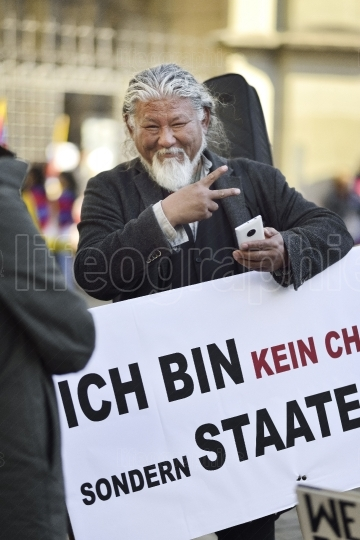 10 March Uprising Day 2017 in Tibet, Bern. Switzerland