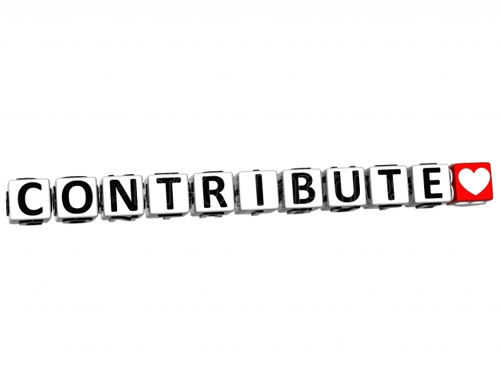3D Contribute Button Click Here Block Text