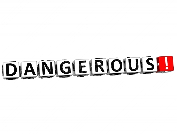 3D Dangerous Button Click Here Block Text