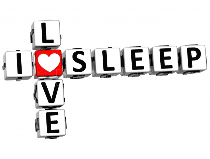 3D I Love Sleep Crossword