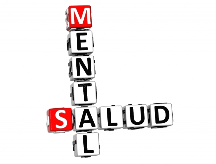 3D Mental Health (Mental Salud) Crossword on white background