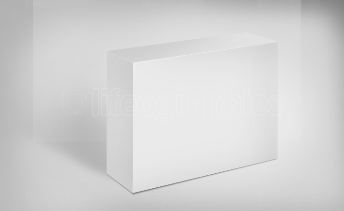 3D White Box on Ground Concept Series 532