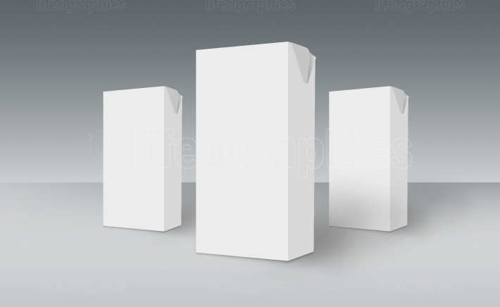 3D White Boxes on Ground Concept Series 511