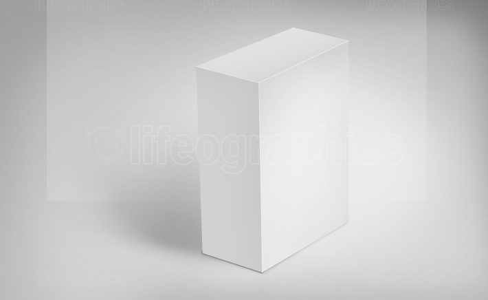 3D White Boxes on Ground Concept Series 531