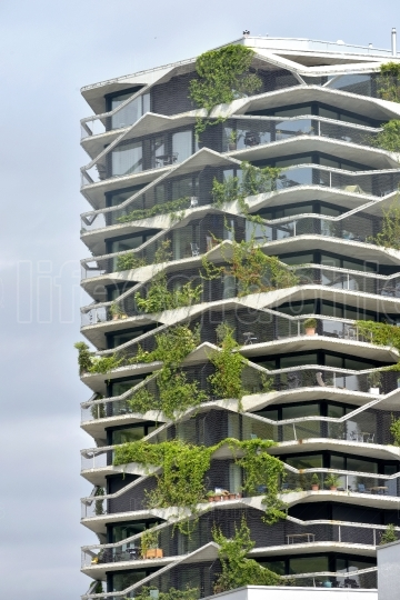 A green residential tower    Bern, Switzerland   23 july 2017