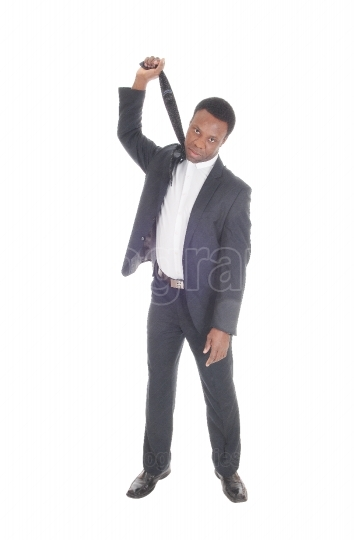 African Businessman try to hang himself