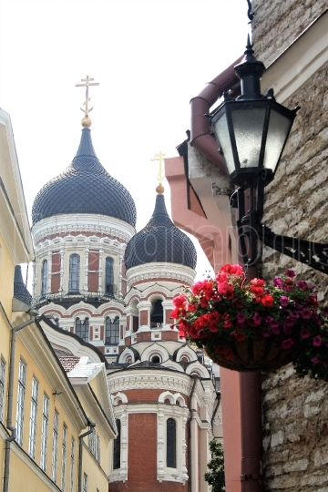 Alexander nevskij cathedral in the old town of Tallin