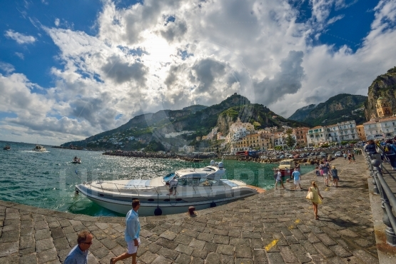 Amalfi city port, Italy