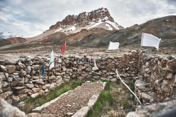 Ancient and sacred tomb of the plateau Shimshal