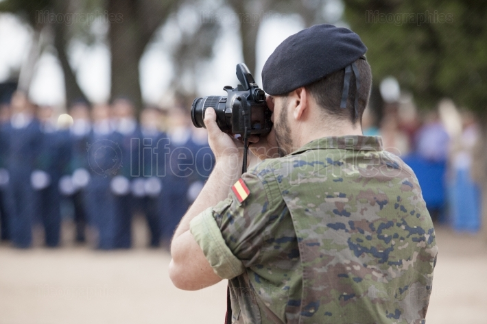 Armed forces day  Journalist soldier