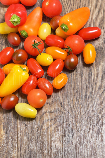 Assortment of Cherry Tomatoes and Paprika Peppers