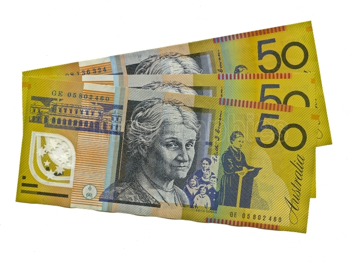 Australian $50 featuring Edith Cowan x 3 notes.