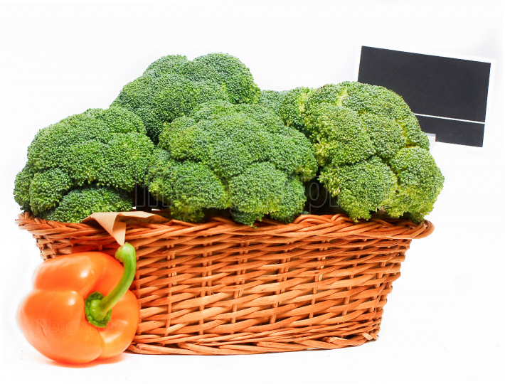 Basket full or red broccoli