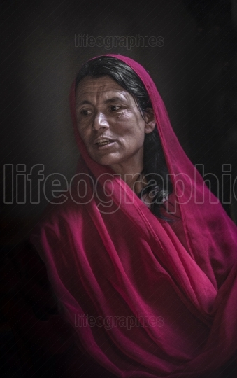 Beautiful shimshali woman from Shimshal