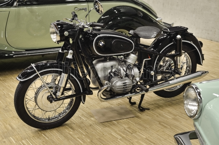 BMW R50 (1955) powered by 2 cylinder OHV - Boxer engine
