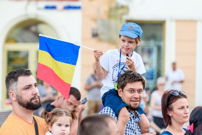 Brasov, Romania  Romanians from abroad protest against the gover