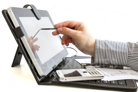 Business woman using digital tablet
