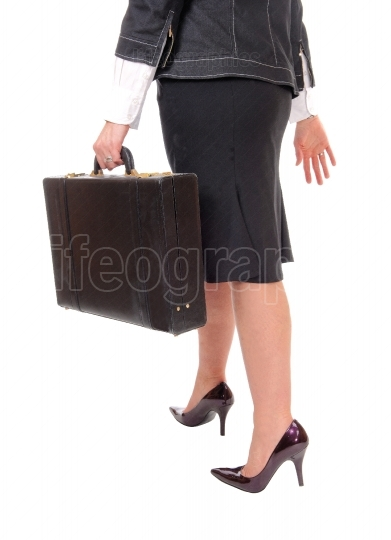 Business woman with briefcase.
