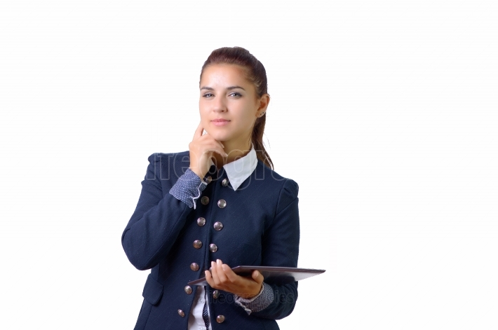 Business woman with tablet