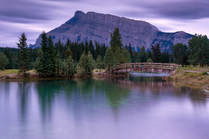 Cascade Ponds with Mount Rundle, Banff National Park, Alberta, C