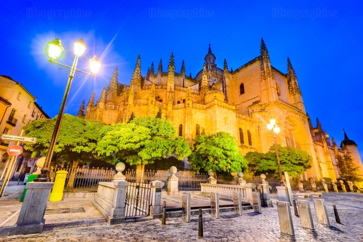 Cathedral of Segovia in Castilla y Leon, Spain