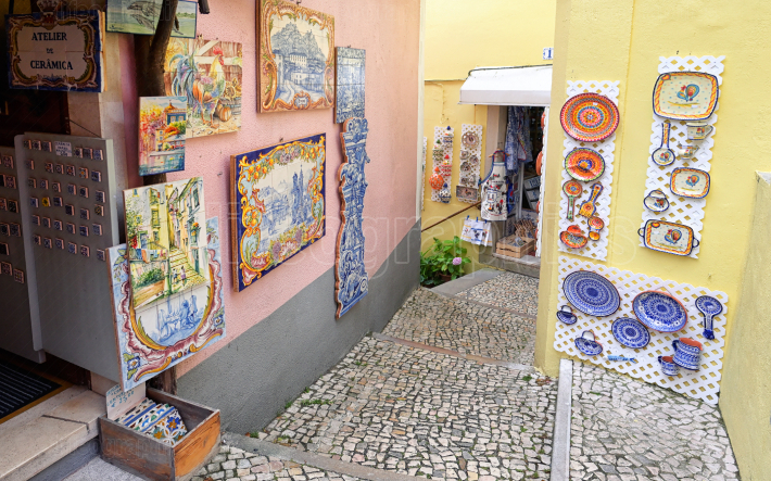 Ceramics shop, Sintra, Portugal