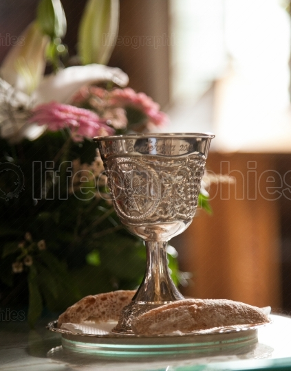 Chalice in church