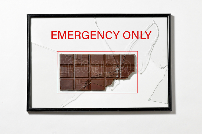 Chocolate in Hose Cabinet Red Color Emergency Equipment