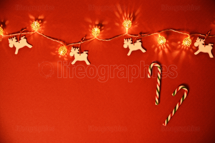 Christmas and New Year composition  Seasonal greeting card conce