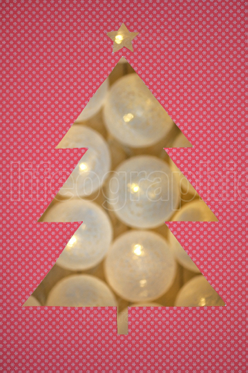 Christmas Tree  Shape With Festive Light Decoration