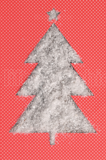 Christmas Tree Shape With Fake Snow