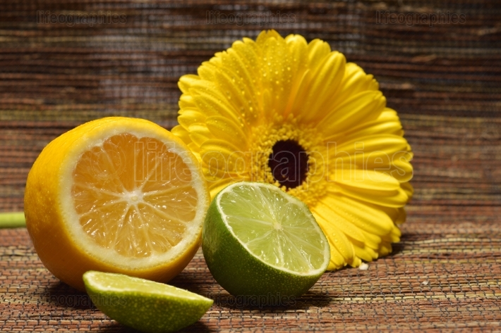 Citrus fruits - lemon and Lima