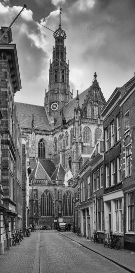 City center of Haarlem, Netherlands