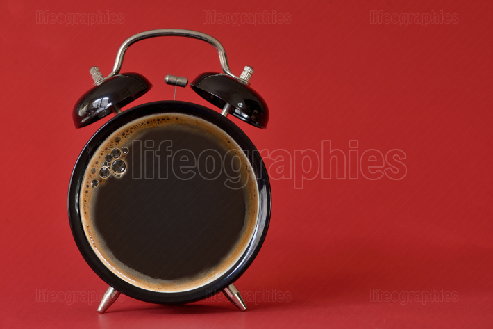 Clock cup of coffee