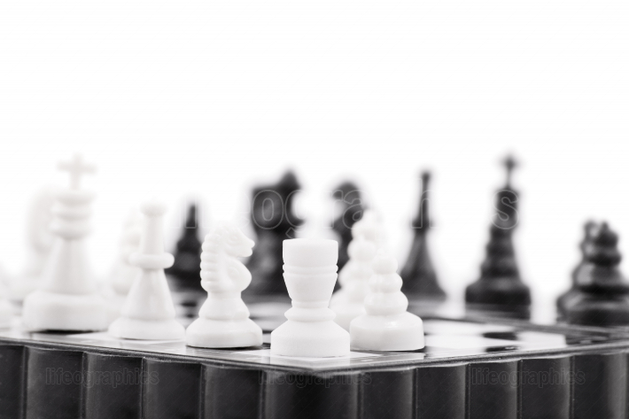 Close up of a chess table