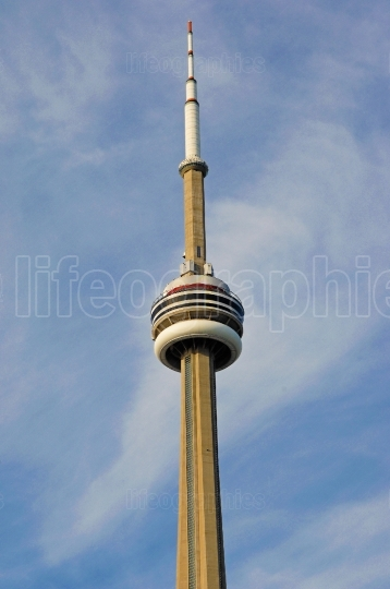 CN tower from Toronto in closeup.