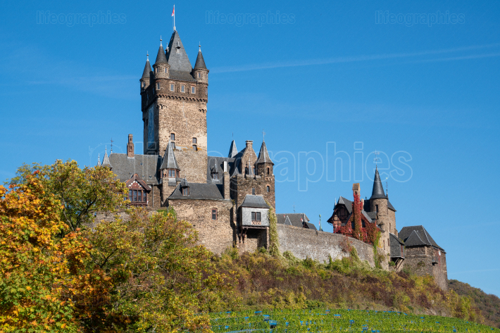 Cochem castle, Germany, Europe
