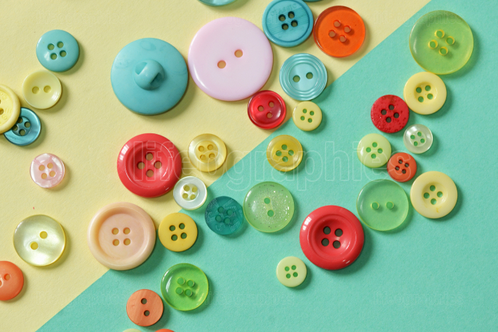 Colorful Sewing Button Background