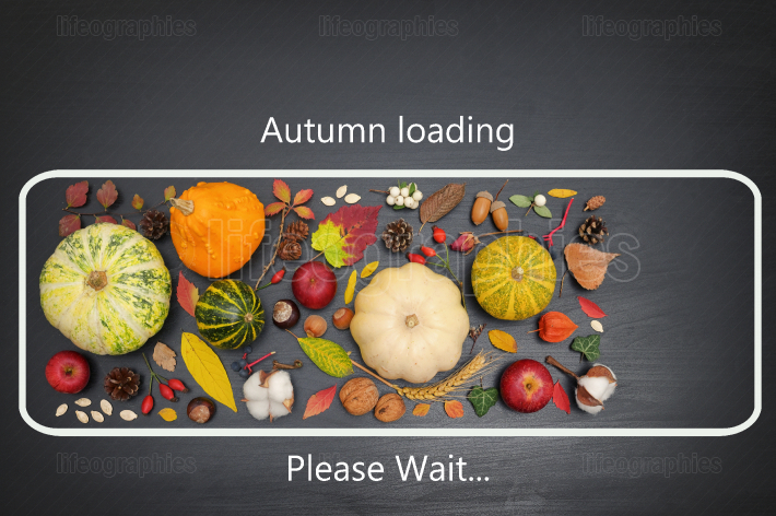 Conceptual icon autumn loading