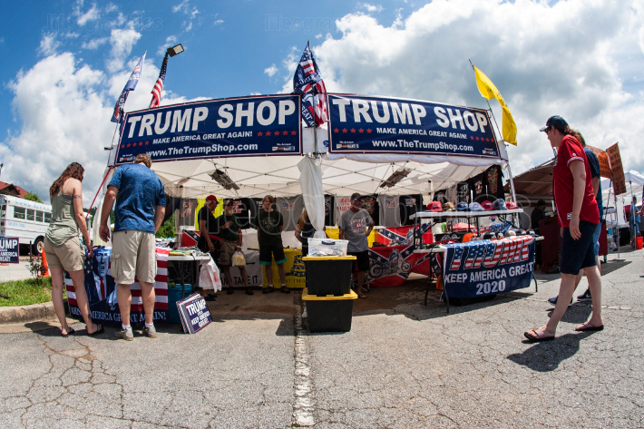 Couples Shop For Merchandise At Popup Trump Shop In Georgia