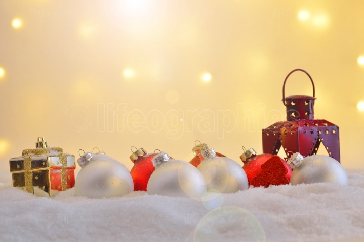 Different Christmas ornaments