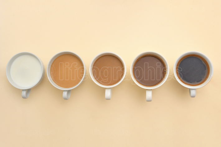 Different Types Of Coffee In Cups