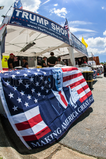 Donald Trump Merchandise On Display At Georgia Outdoor Popup Market