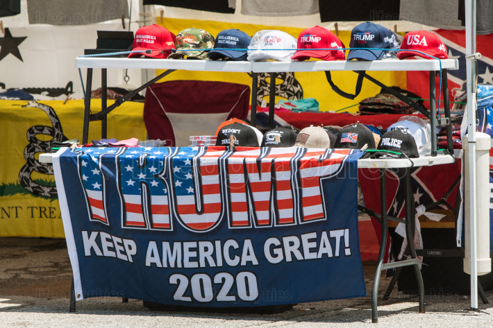 Donald Trump Merchandise On Sale At Georgia Outdoor Popup Market